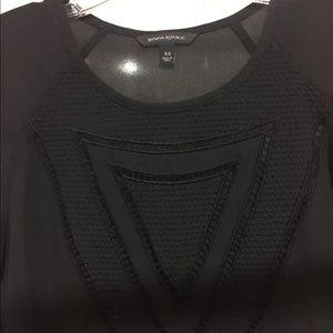 Banana Republic Tops - Black shirt sleeve blouse